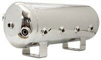 5 Gallon Polish Stainless Steel Air Tank 8-port train horn & air suspension