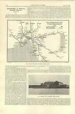 1920 Newport Powerstation Melbourne Map Suburban Railway System