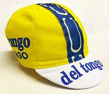 DEL TONGO COLNAGO RETRO CYCLING BIKE CAP - Vintage - Fixed Gear - Made in Italy