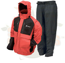 S SM Frogg Toggs Red Firebelly Toadz Jacket and Pants Rain Suit Gear Wear SMALL