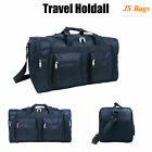 New Black Sports Travel Gym Shoulder Hand Luggage Holiday Flight Holdall Bag