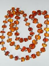 ANTIQUE VINTAGE BUTTERSCOTCH BALTIC AMBER BEADS NECKLACE 39 GRAMS 30 INCHES LONG
