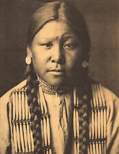 "EDWARD CURTIS Indian Tribe ""CHEYENNE GIRL"" Vintage Native American Photo Print"