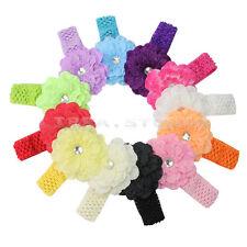 12 Bandeau Bande Cheveux Serre-tête de Pivoine Fleur pour Bébé Tissu Elastique