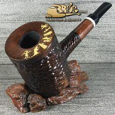 """OUTSTANDING BIG & HEAVY Mr.Brog original smoking pipe """" LUMBERJACK """" Brown"""