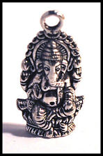 Indian Elephant Ganesh Tibetan Silver jewellery charm craft Hindu God animal