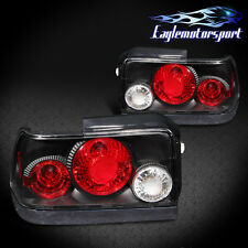 1993 1994 1995 1996 1997 Toyota Corolla Black Replacement Rear Tail Lights Pair