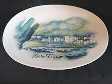 """New Ceramica Cuore Large Serving Platter Seaside Boats 18"""" x 12"""""""