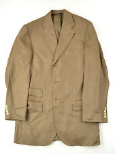 POLO RALPH LAUREN Made in Italy Brown Flax Dual Vent 3 Button Suit 38 38r NICE!!