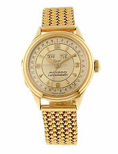 Movado 18k PG Triple Calendar Center Seconds Bracelet Watch, Ref. 6351