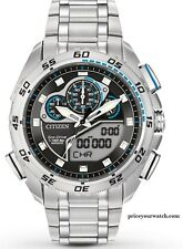 Citizen Men's Eco-Drive Promaster Super Sport Stainless Steel Watch JW0110-58E