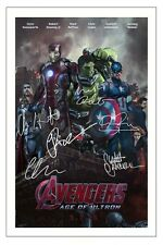 THE AVENGERS 2 AGE OF ULTRON CAST SIGNED PHOTO PRINT AUTOGRAPH POSTER