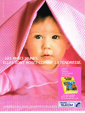 PUBLICITE ADVERTISING 064  1990  FRANCE TELECOM  les pages jaunes sont roses
