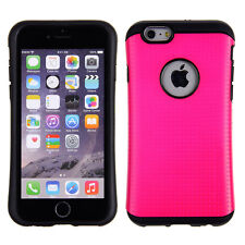 Hybrid Black TPU Black Cover Slim Dual Pink Cover For Apple Iphone 6  Case