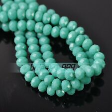 (216 COLORS) 50pcs/lot 6x4mm Rondelle Faceted Crystal Glass Loose Spacer Beads