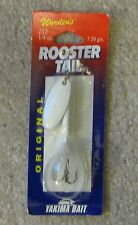 wordens rooster tail lure new 1/4oz snow white