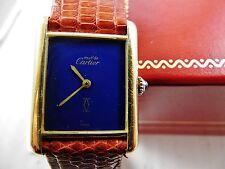 orologio cartier vermeil manuale argento 925 placcato oro 20 micron