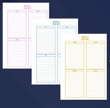 A5 Planner Insert Filofax Kikkik Punched  Birthday Special Event 6 Pieces