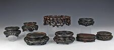 LOT OF OLD ANTIQUE CHINESE CARVED WOOD STANDS FOR VASE ETC OF VARIOUS FORM