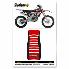 2014-2015 YAMAHA YZF 450 Black/Red/White RIBBED SEAT COVER BY Enjoy MFG