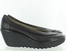 FLY London Womens Yoko Dress Wedge Pump Black Size 40 EU 9 - 9.5 M
