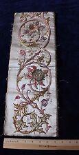 Antique Hand Emb Silk On Silk 18thC (1700s) Priest Vestment Sample~Gold Metallic