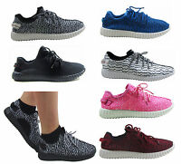 LADIES WOMEN GYM FITNESS RUNNING  SPORTS YEEZY COMFY LACE UP TRAINER SHOES SIZE