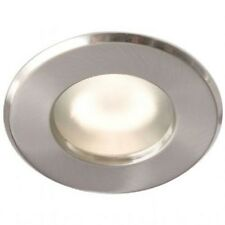 ROBUS RFS 10165GZ FIRE RATED SHOWER DOWNLIGHT, BRUSHED CHROME FINISH, NEW IN BOX