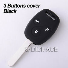 silicone black car key fob cover case for honda Accord CR-V Civic Fit Freed