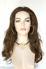 Chestnut Brown Tipped Auburn Blonde Long Straight Wigs