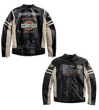 JACKET COAT HARLEY DAVIDSON GENUINE LEATHER BIKER SIZE L **STOCK** SALE -25%
