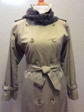 Burberry Women's Trench Coat Sz 10 With Zip In/Out Liner - Nice Condition! (245)