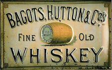 Bagots Whiskey segno di acciaio goffrato (hi 3020) RIDOTTO PER CANCELLARE !!