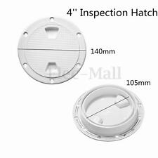 "4"" ABS White Round Marine Screw Deck Plate Inspection Hatch Out Boat Access RV"