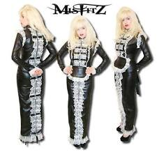 Misfitz leather look strait jacket hobble maids dress. Sizes 8-32/TV fit/custom