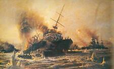 Sinking of Battleship Bouvet Dardanelles Turkey World War 1, Print 12x8 Inch