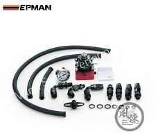 UNIVERSAL EPMAN BLACK/RED ADJUSTABLE FUEL PRESSURE REGULATOR KIT WITH OIL GAUGE