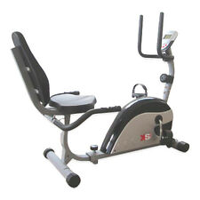 RECUMBENT MAGNETIC EXERCISE BIKE CYCLE - SEATED CARDIO FITNESS WORKOUT MACHINE