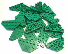 *NEW* 25 Pieces LEGO GREEN WEDGE PLATE 3x6 Cut Corners