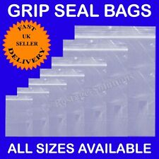 "1000 Grip Seal Resealable Clear Plastic Bag 9"" x 12"" 228X320MM Cheapest A4 Size"