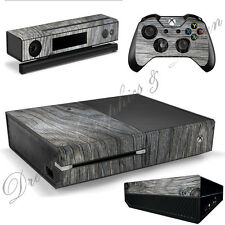Wood Sticker Skins for Xbox One Console + 2 Controller skins xbo_02