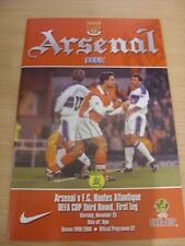 25/11/1999 Arsenal v Nantes [UEFA Cup] . (Any noticable faults with this item wi