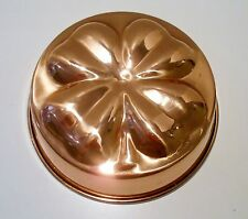 Shamrock Four Leaf Clover Copper Jello Cake Mold Pan Wall Hanging