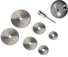 7pc Circular Saw Mandrel Cutting Cutter Disc Blade Dremel Drill Bit Rotary Tool