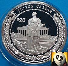 1997 Liberia $20 dollari al mondo CONQUISTATORE Giulio Cesare argento Proof Coin