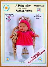 DOLLS KNITTING PATTERN no. 301 for BABYBORN or sim. size doll by Val Young