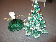 "Vintage Green Ceramic Christmas Tree Atlantic Mold 2 Piece  16"" Tall dated 1975"
