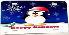 Novelty license plate Christmas Penquin New aluminum auto tag XMAS-07