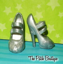 MONSTER HIGH FASHION PACK REPLACEMENT SILVER FRANKIE STEIN DOLL HEELS SHOES ONLY