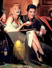 MARILYN MONROE AND ELVIS PRESLEY  IMAGE A4 Poster Laminated Gloss Print
